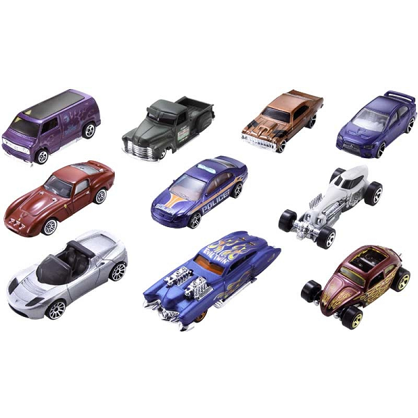 Hot Wheels 10 car pack out of the box