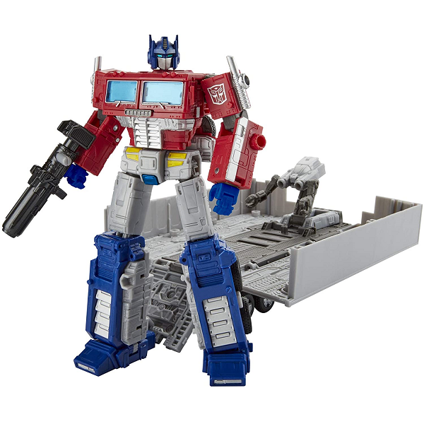 War for cybertron earthrise Optimus Prime Cover Image Robot and Trailer
