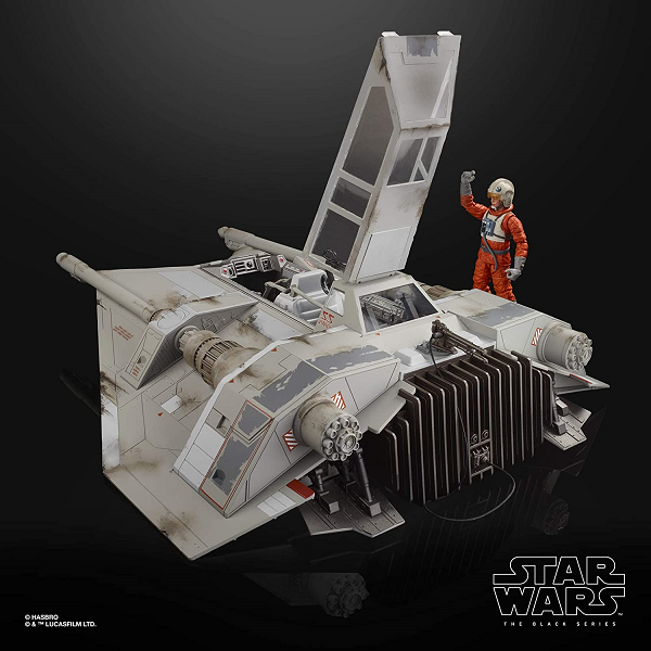 Black Edition Toy Snow Speeder and Pilot with Canopy open