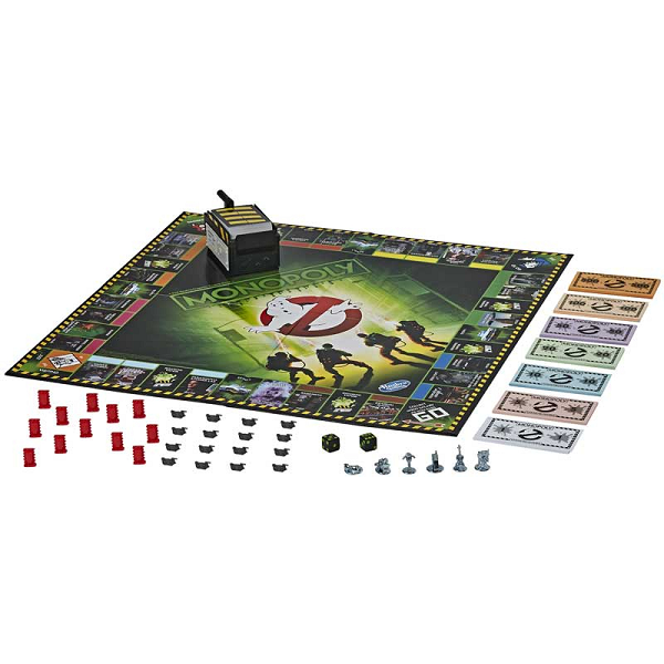 Ghostbuster Monopoly Board and Pieces set up