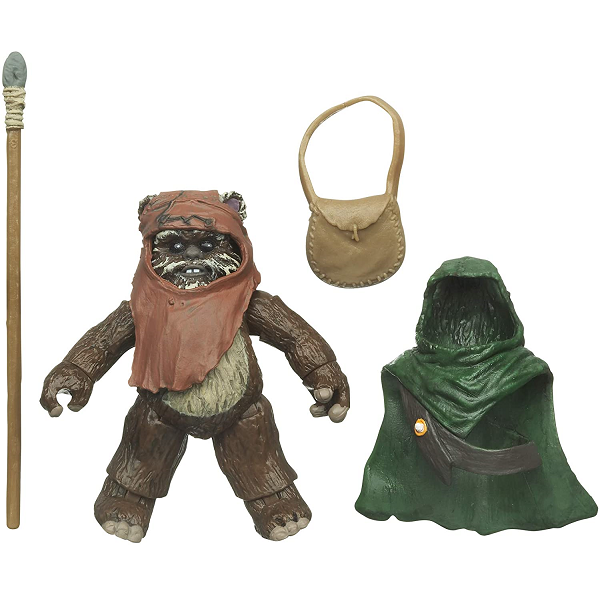 Wicket Action figure with satchel, spear and cloak