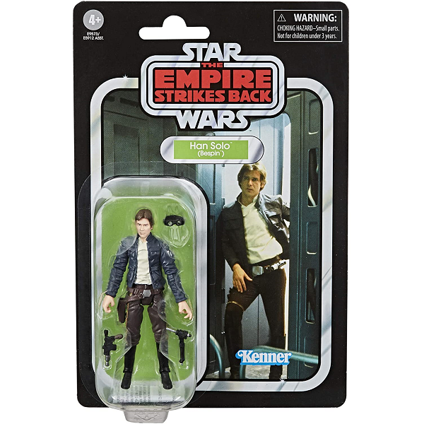 Star Wars vintage collection han solo in bespin outfit with vintage packaging