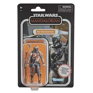 Mandalorian 3.75 inch action figure with Carbonised Graphite colouring in package