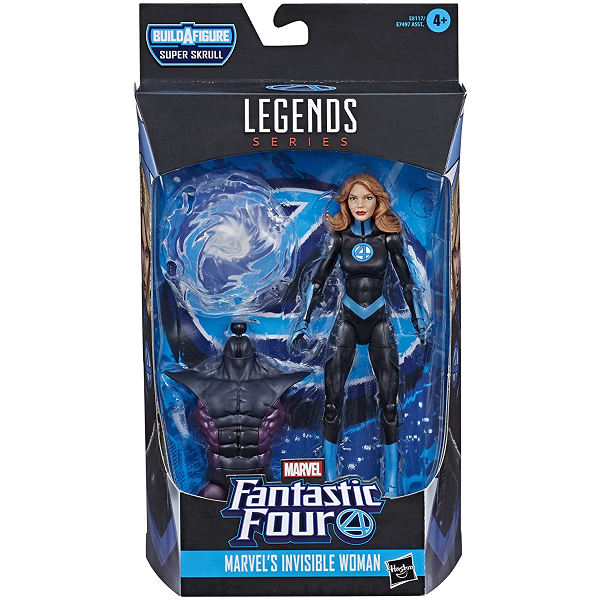 marvel legends invisible woman in fantastic four packaging