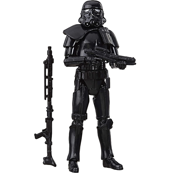 Star Wars Vintage Collection 3.75 inch imperial shadow trooper action figure picture in battle pose with two blasters