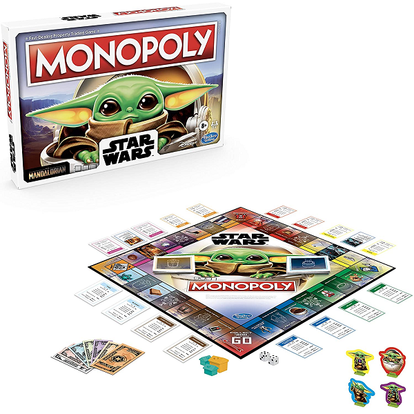 star wars monopoly the child edition board with box behind