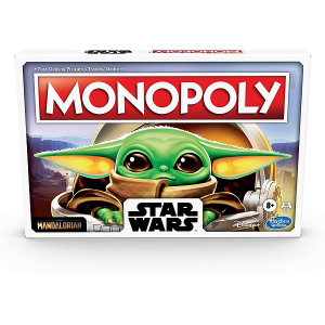 star wars monopoly the child edition box with baby yoda on the front