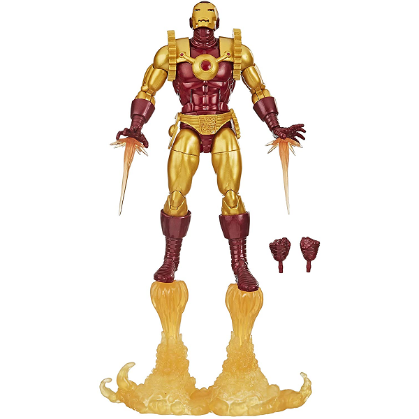 marvel legends ironman 2020 6 inch action figure taking off with thruster boost