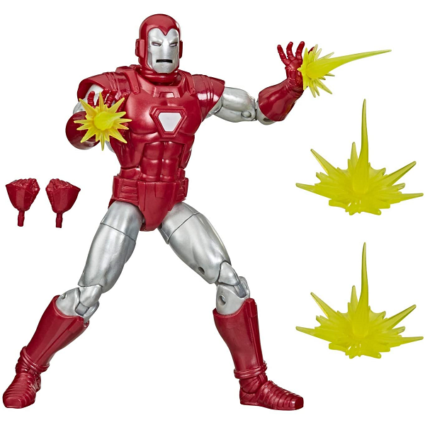 marvel legends ironman silver and red with accessories